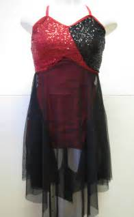 black amp red ice dance skating dress cheap