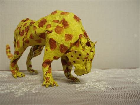 Origami Leopard - leopard origami origami posts leopards