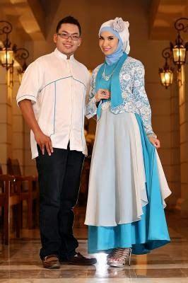 desain baju couple muslim 5 ide baju pesta muslim couple modern desain terbaru
