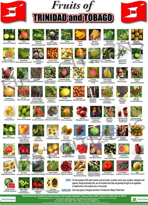 list of fruits fruits of and tobago and guyana guyanese