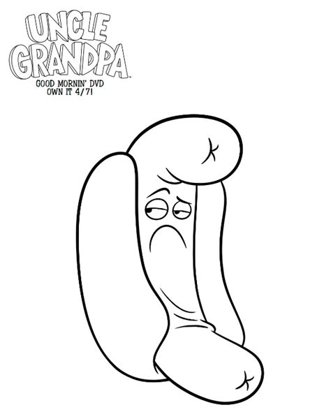 printable coloring pages uncle grandpa free printable uncle grandpa hot dog person coloring page