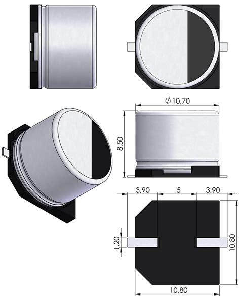 kemet capacitor 3d model capae1080x850 eia case g kemet fcs0v474zftbr24 pcb 3d