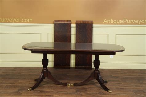 double pedestal dining table new american made antique style double pedestal dining table