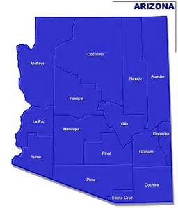 arizona zip code map