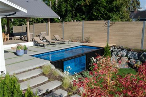 backyard rs shipping container pool sets up in minutes curbed
