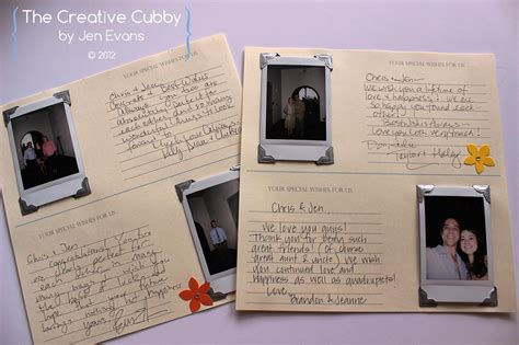 polaroid picture book the creative cubby polaroid wedding guest book
