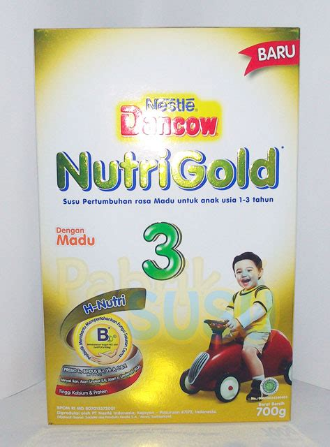 dancow nutrigold 3 madu 700g pabrik detil toko