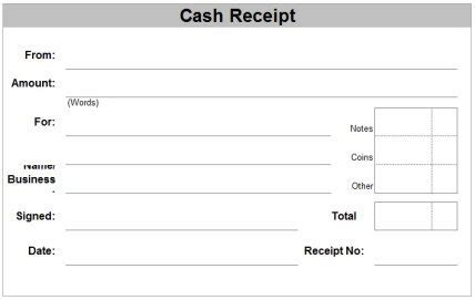 receipt template on a page free receipt forms