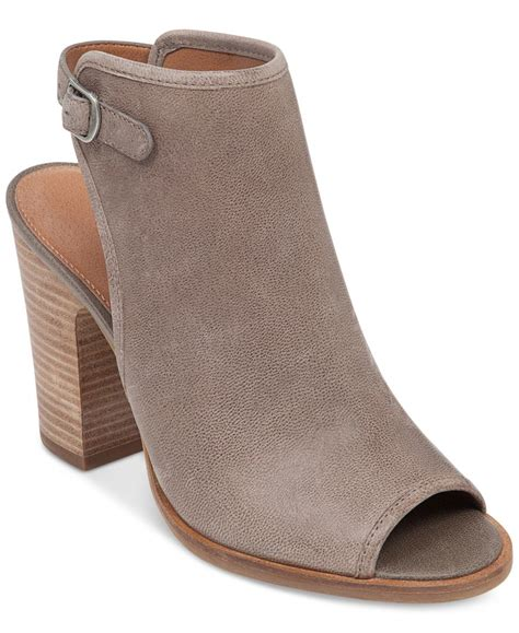 shooties boots lucky brand s lisza peep toe shooties in gray