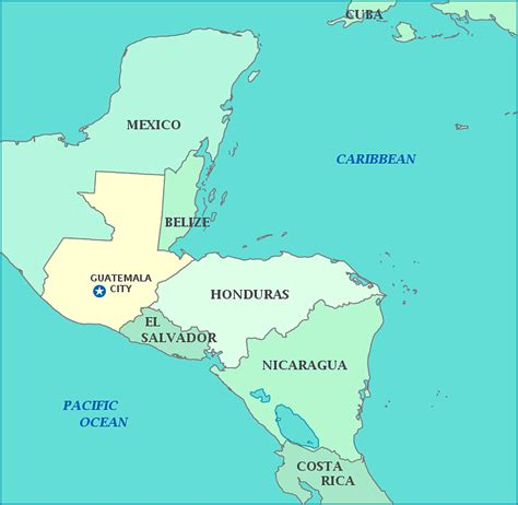 where is guatemala on the map map of guatemala