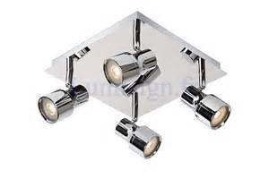 plafonnier spots led salle de bain sirene chrome