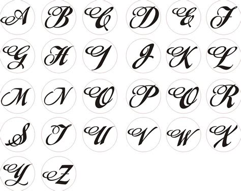 Letter Different Styles different alphabet style lettering styles and fonts
