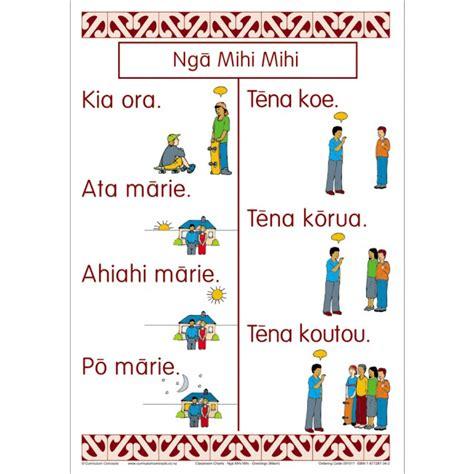 Basic By Mauri by Greetings Maori Chart Set Te Reo Maori Resources