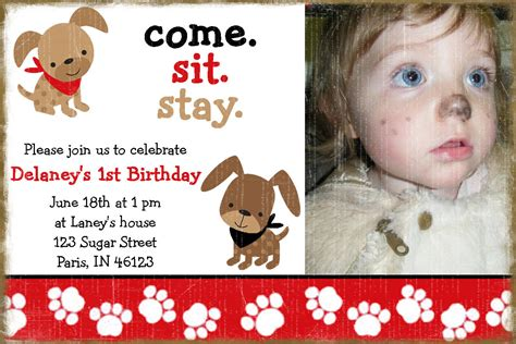 puppy birthday invitations puppy birthday invitation a birthday paw ty
