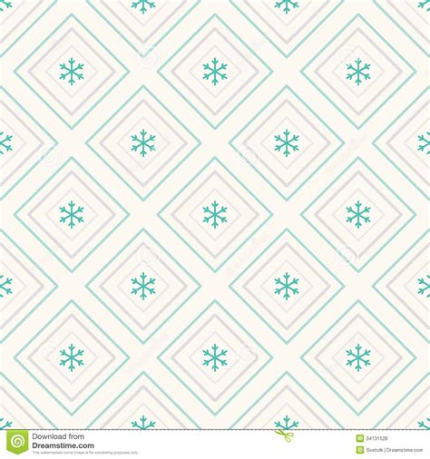 web repeat pattern geometric seamless pattern rhombus and snowflakes stock