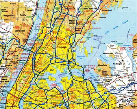 road map new york highways map of eastern new york cityfree maps of us