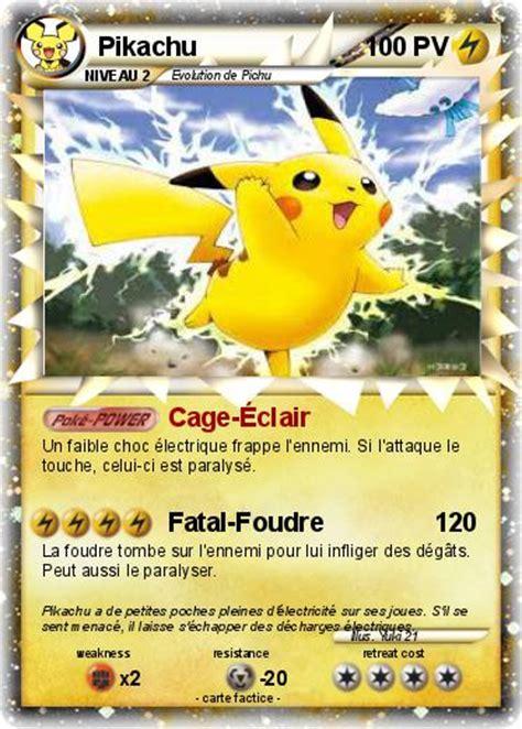 Pok 233 Mon Pikachu 15608 15608 Cage 201 Clair Ma Carte Pok 233 Mon