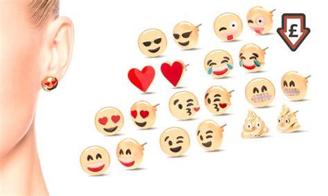 emoji earrings emoji earrings groupon goods