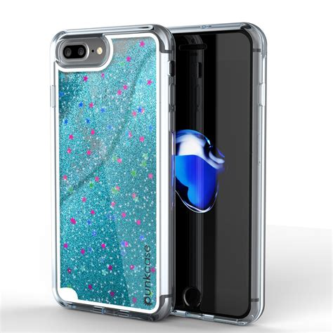 0 iphone 8 plus iphone 8 plus punkcase liquid silver series protective dual layer floating glitter