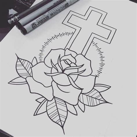 cross tattoo flash pin by sparrow wren on flash design