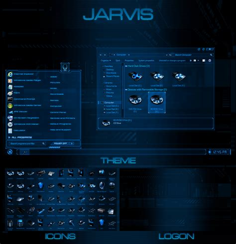 download theme windows 7 jarvis jarvis windows 7 transformation pack by ultimatedesktops