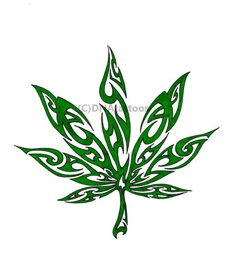 leaf tribal tattoo marijuana tattoos tribal by weedenstein projects
