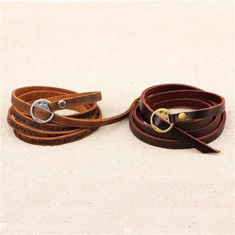Layered Genuine Leather Bracelet inspirational multi layer genuine leather bracelet