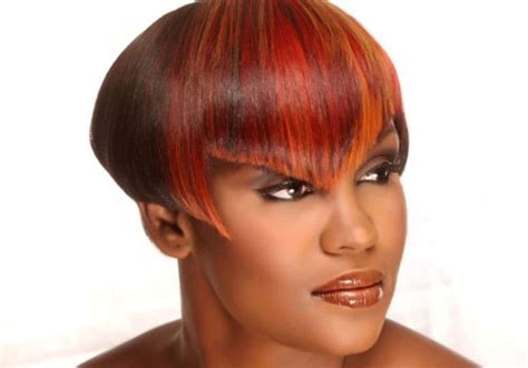 deep triangle bangs 30 short haircuts for black women which look hot creativefan