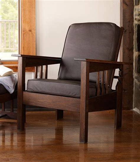 Llbean Furniture by Morris Chair With Leather Cushion Chairs At L L Bean Cabin Furniture