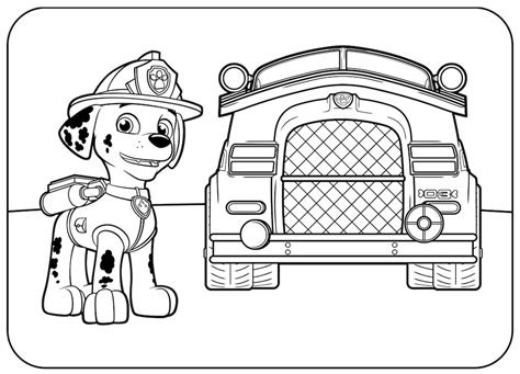 Paw Patrol Marshall Coloring Page top 10 paw patrol coloring pages of 2017