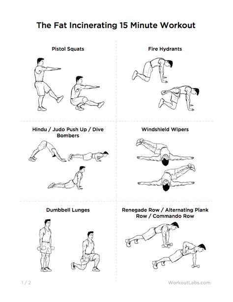 printable exercise routines for weight loss the fat incinerating 15 minute workout for weight loss