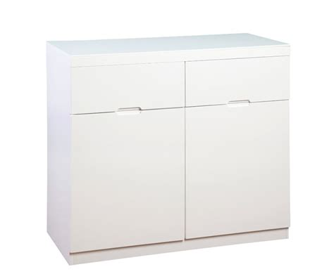 Sideboard High Gloss White pravia vanilla 2 door 3 drawer sideboards