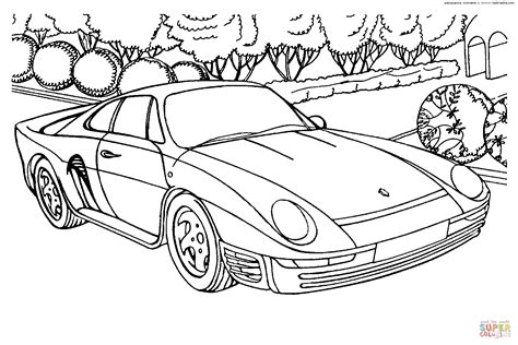 porsche 959 coloring page free printable coloring pages