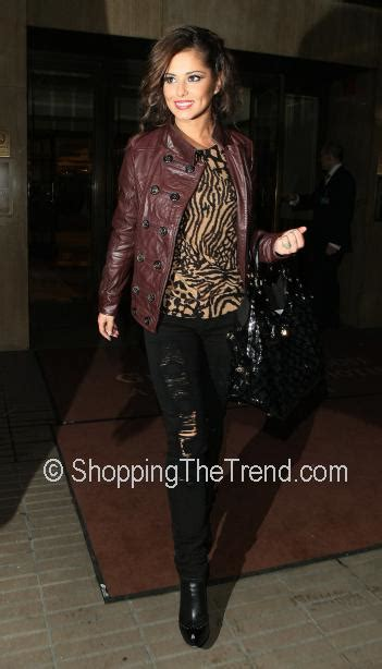 where does cheryl burton buy her clothes cheryl cole buy her brown leather military jacket dkny