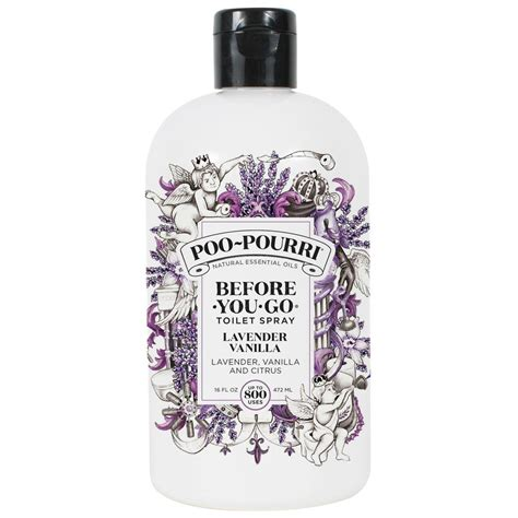 poo pourri before you go bathroom spray poo pourri before you go 16 oz lavender vanilla toilet