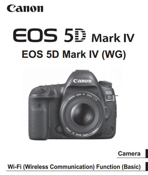 Canon Camera News 2019 Canon Eos 5d Mark Iv Pdf User