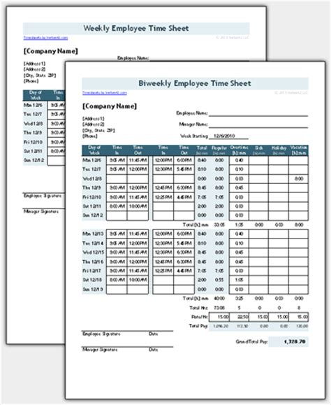Time Sheet Template For Excel Timesheet Calculator Timesheet Template Excel Free