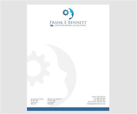 professional upmarket letterhead design design for frank