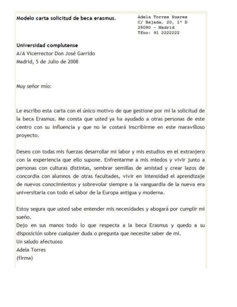 carta de solicitudde beca solicitud de beca