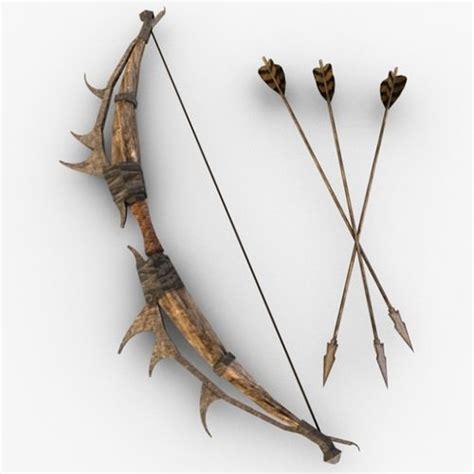 D The Bow And Arrow Set 1 bow and arrow 3d cgtrader