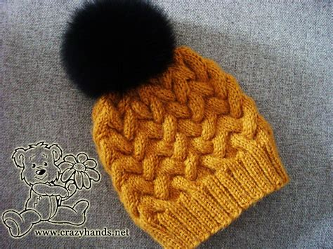 knitting patterns for beanies with needles step by step tutorial of knitting winter cable hat with
