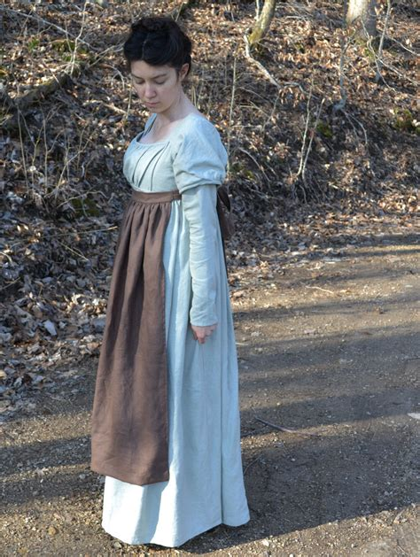 pattern for regency apron regency apron in brown linen