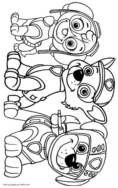 helpful photo selection of free paw patrol coloring pages