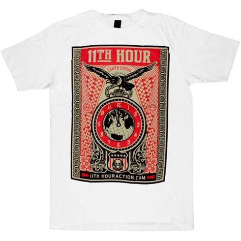 Tees T Shirt Kaos Obey 11th hour t shirt obey 11th hour on templeofdeejays