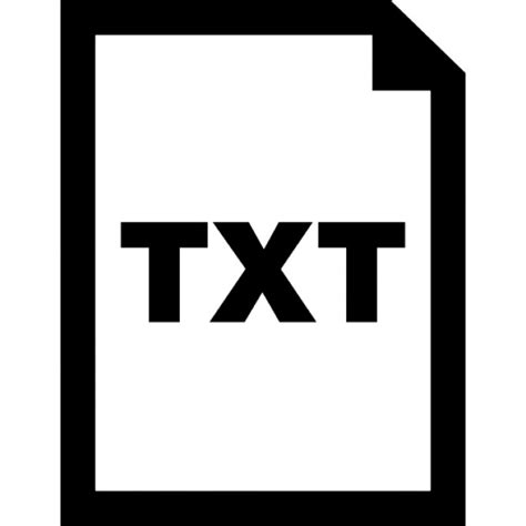 Txt text file extension symbol Icons | Free Download .txt