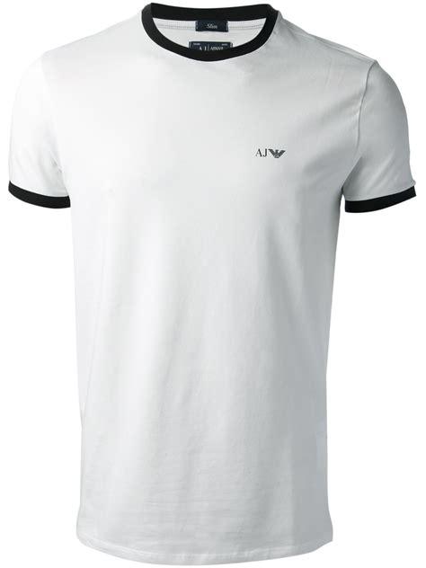 tshirt armani iii lyst armani classic tshirt in white for