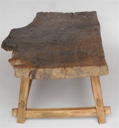 one wide board elm wood one wide board elm wood coffee table with live edge at 1stdibs