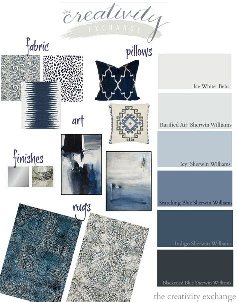 complimentary paint color schemes layering indigo black and gray moody monday