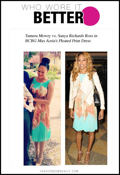 Who Wore Bdbg Max Azria Better by Who Wore It Better Tamera Mowry Vs Sanya Richards Ross