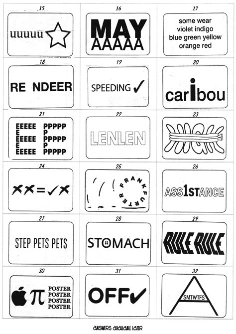 printable dingbats quiz search results for dingbats with answers calendar 2015